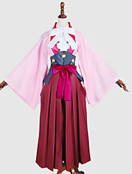 Inspired by Kabaneri Of The Iron Fortress Ayame Anime Cosplay Costumes Cosplay Suits Cosplay Tops/Bottoms Kimono Solid Patchwork Coat