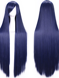 cheap -100 Cm Harajuku Anime Cosplay Wigs Young Long Straight Synthetic Hair Wig Bangs Blonde Costume Party Wigs