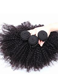 abordables -3 offres groupées Cheveux Brésiliens Kinky Curly / Tissage bouclé Cheveux humains Tissages de cheveux humains Tissages de cheveux humains Extensions de cheveux humains / Très Frisé