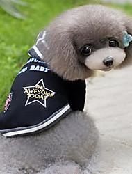 Hund T-shirt Hættetrøjer Hundetøj Mode Farveblok Sort Grå Kostume For kæledyr