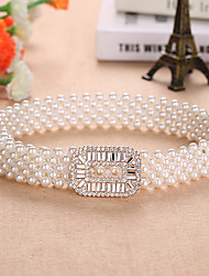 cheap -Bead / Elastic Wedding / Party / Evening Sash With Imitation Pearl Women's Sashes