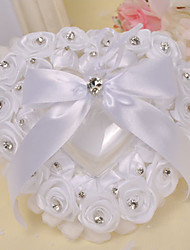 cheap -The Rose Heart Style Rhinestone Ring Pillow Wedding Ceremony Beautiful
