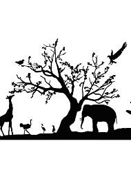 Zvířata Samolepky na zeď Samolepky na stěnu Ozdobné samolepky na zeď,PVC Materiál Snímatelné / Nastavitelná poloha Home dekoraceLepicí