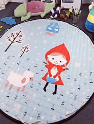 """Lovely Girl Toys Storage Bag Carpet Kids Game Mats diameter 59"""" baby Crawling multifunctional round blanket Play Rug"""