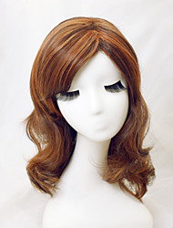 cheap -Women Synthetic Wig Straight Light Brown With Bangs Halloween Wig Carnival Wig Costume Wig