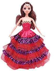 cheap -Great For Wear Skirts Girl Toy Princess Wedding Dress Trailing Dress Evening Dress (Without Baby)