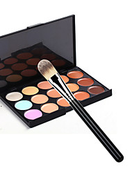 cheap -Makeup Brush Set 15 Color Concealer+1pcs Makeup Brush Cosmetic Beauty Care Makeup for Face