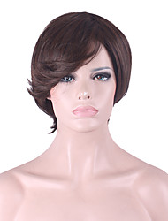 cheap -Best-selling Europe And The United States COS Wig Men Brown Short  Wig 3 Inch