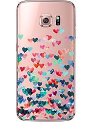 economico -Per Samsung Galaxy S7 Edge Transparente / Fantasia/disegno Custodia Custodia posteriore Custodia Con cuori Morbido TPU SamsungS7 edge /