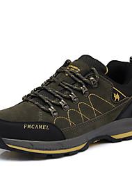 abordables -Homme Chaussures Tulle Synthétique Printemps Automne Basket Randonnée Combinaison Lacet pour Kaki Vert foncé
