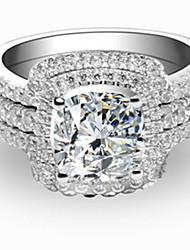 Ringe Damen Strass Silber / Platiert Silber / Platiert 4.0 / 5 / 6 / 7 / 8 / 8½ / 9 / 9½ SilberFarbe & Stil Darstellung variiert je nach