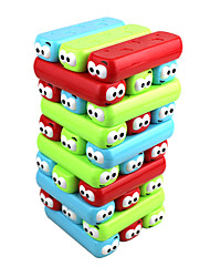 cheap -Board Game Stacking Games Wood Block Stacking Tower Toys Colorful Square Magnetic Putty New Design 30 Pieces Girls Boys Birthday