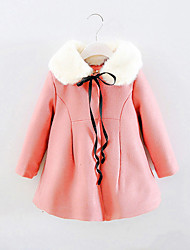 FanXingBeiYiGirl's Going out Solid Down & Cotton Padded,Cotton Winter Pink / Red