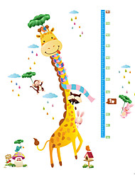 Wall Stickers Wall Decals Style Cartoon Deer Measure Your Height PVC Wall Stickers