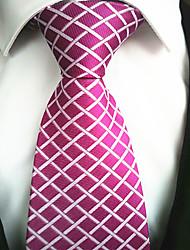 baratos -Moderno Cor de Rosa Tecido Masculino Tie Bar-1pç