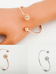 Golden Ball Hollow Cuff Bangle Bracelet Jewelry Set (6*7cm) Christmas Gifts