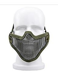outdoor autodefesa protector equipamento fio enfrentam meia máscara máscara protetora em muitos equipamentos de campo de esportes