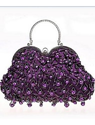 Women Tote  Leather Type Event/Party Gold White Black Purple Ruby