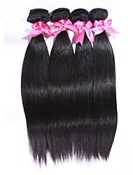 cheap -Indian Hair Straight Virgin Human Hair Natural Color Hair Weaves 4 Bundles Human Hair Weaves natural black