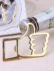 Bottiglia Favor Apribottiglie Spiaggia Non personalizzato Cromo Oro 1Pezzo/Set