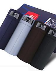 Недорогие -SHINO® Хлопок / Бамбуковое углеволокно Брифы-боксеры 4 / коробка-F027
