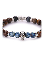 cheap -Adorable Skull Strand Bracelet - Vintage Fashion Geometric Brown Bracelet For Christmas Gifts Party Daily