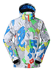 GSOU SNOW® Ski Wear Ski/Snowboard Jackets Men's Winter Wear Polyester Characters Winter ClothingWaterproof / Breathable / Thermal / Warm