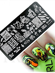 1pcs  New Nail Art Stamping Plates Colorful Lovely Animal ImageTemplates Tools Nail Beauty XY-J16