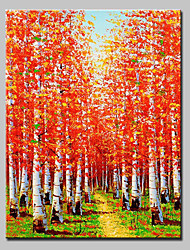 Hand Painted Canvas Oil Painting Modern Abstract Tree Landscape Picture With Stretched Frame Ready To Hang