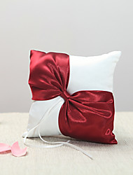 cheap -Burgundy Bow Ring Pillow The Wedding Store Classic Theme Wedding & Party