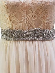 cinture di nozze in raso elastico con perline stile imitazione perla elegante