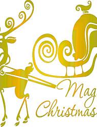 abordables -Animales Romance Navidad Pegatinas de pared Calcomanías de Aviones para Pared Calcomanías Decorativas de Pared, CLORURO DE POLIVINILO