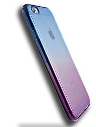 Недорогие -Кейс для Назначение Apple iPhone 6 iPhone 6 Plus Прозрачный Кейс на заднюю панель Градиент цвета Мягкий ТПУ для iPhone 6s Plus iPhone 6s