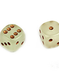 Недорогие -Игральные кости Кубики и фишки Игрушки Сияние в темноте Фосфоресцирующий Лампа дневного света Квадратный ПВХ 2 Куски Подарок