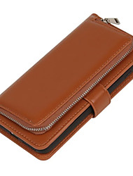 preiswerte -Hülle Für Apple iPhone 6 iPhone 6 Plus Kreditkartenfächer Geldbeutel Flipbare Hülle Ganzkörper-Gehäuse Volltonfarbe Weich PU-Leder für