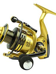 abordables -Carretes para pesca spinning 5.5/1 Relación de transmisión+13 Rodamientos de bolas Orientación de las manos Intercambiable Pesca de