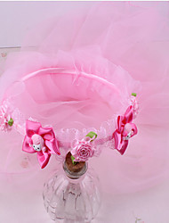 baratos -Para Meninas Acessórios de Cabelo Todas as Estações Chiffon, Bandanas - Fúcsia Arco-íris Rosa claro