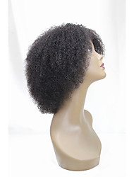 cheap -short human hair wigs kinky curly unprocessed virgin brazilian glueless none lace machine made human hair wigs