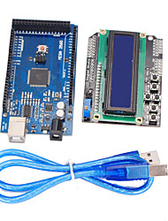 cheap -Improved Version Mega2560 Development Board + 1602 LCD Keypad Shield for Arduino