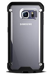 Недорогие -Кейс для Назначение SSamsung Galaxy Samsung Galaxy S7 Edge Защита от удара / Прозрачный Кейс на заднюю панель броня Твердый ПК для S7 edge / S7 / S6 edge