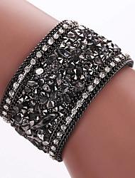 economico -Per uomo Da donna Dell'involucro del braccialetto Bracciali in pelle Lega Pelle imitazione diamanteDi tendenza stile della Boemia