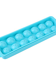 (Random color)1pc 14 Lattices Whiskey Ice Ball Cube Maker Tray Sphere Mould Mold Party Brick Round Bar Kitchen