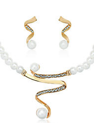 cheap -Women's Pearl Jewelry Set - Imitation Pearl Fashion, Elegant, Bridal Include Drop Earrings / Necklace / Earrings / Pearl Necklace White For Wedding / Party / Anniversary