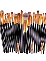 cheap -20PCS Pro Eyeshadow Makeup Brush Set Powder Foundation Eyeliner Lip Cosmetic Brush Set