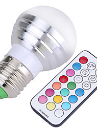 cheap -YWXLIGHT® 400 lm E26/E27 LED Globe Bulbs A50 4 leds SMD Dimmable Decorative Remote-Controlled Cold White RGB AC 110-130V AC 220-240V AC