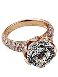 Anillos De mujeres Diamantes Sintéticos Plata / Chapado en Plata Plata / Chapado en Plata 4.0 / 5 / 6 / 7 / 8 / 8½ / 9 / 9½ Oro rosa