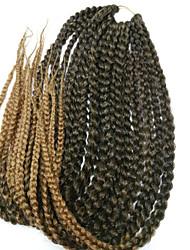 """Недорогие -Спиральные плетенки Косы Box плетенки 100% волосы канеколон 1b / фиолетовый burgundy 1b / # 27 1b / # 30 1b / # 33 24 """" Волосы для кос"""