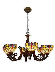 abordables -Lustre Lumière d'ambiance - LED Designers, Tiffany, 110-120V 220-240V, Jaune, Ampoule non incluse