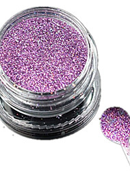cheap -1 Bottle Nail Art Laser Charming Light Purple Glitter Shining Powder Manicure Makeup Decoration Nail Beauty L13