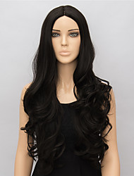 Black Long Synthetic Wigs Curly New Fashion Heat Resistant Synthetic Women Party Wig